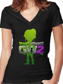 plants vs zombies garden warfare 2 Women's Fitted V-Neck T-Shirt