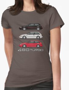 Stack of Volvo 480 Turbos Womens Fitted T-Shirt