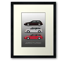 Stack of Volvo 480 Turbos Framed Print