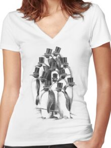 A Gathering of Gentlemen Women's Fitted V-Neck T-Shirt