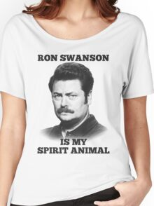 Ron Swanson is my spirit animal Women's Relaxed Fit T-Shirt