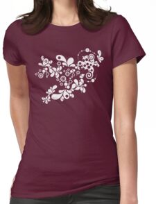 Enchanting Summer - Retro Abstract Womens Fitted T-Shirt