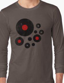 Vintage Vinyl Records Music DJ inspired design Long Sleeve T-Shirt