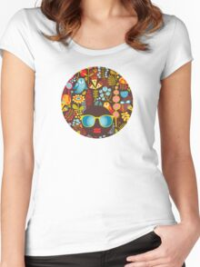 Owly Women's Fitted Scoop T-Shirt