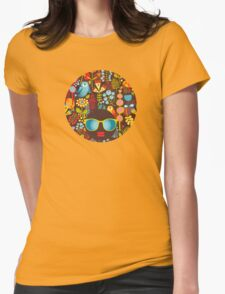 Owly Womens Fitted T-Shirt