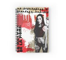 Grunge Girl 1 Spiral Notebook