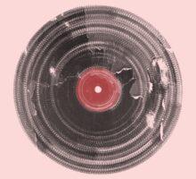 Vinyl Record Vintage Grunge Retro One Piece - Short Sleeve