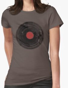 Vinyl Record Vintage Grunge Retro Womens Fitted T-Shirt