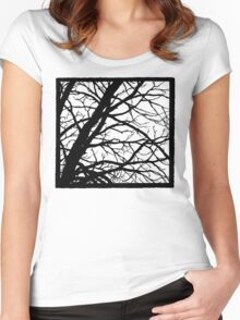 Tree Shadow Women's Fitted Scoop T-Shirt