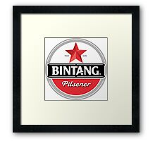 Bintang beer Framed Print