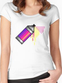 Spray paint - Pink Women's Fitted Scoop T-Shirt