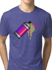 Spray paint - Pink Tri-blend T-Shirt
