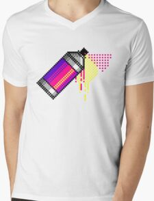 Spray paint - Pink Mens V-Neck T-Shirt