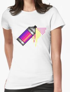 Spray paint - Pink Womens Fitted T-Shirt