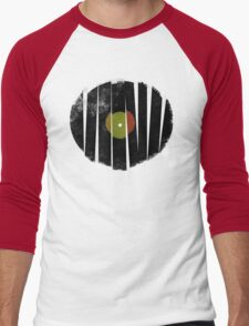 Cool Broken Vinyl Record Grunge Vintage Men's Baseball ¾ T-Shirt