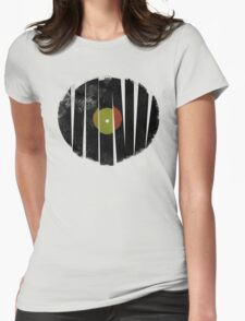 Cool Broken Vinyl Record Grunge Vintage Womens Fitted T-Shirt