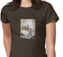 Cranes Womens Fitted T-Shirt