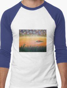 Mr. Hopper and the Lovely Lady.  Men's Baseball ¾ T-Shirt