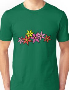 Cute and Colorful Blossoms Unisex T-Shirt