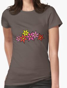 Cute and Colorful Blossoms Womens Fitted T-Shirt