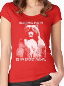 Putin is my spirit animal Women's Fitted Scoop T-Shirt