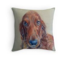 Red Setter Dog Throw Pillow