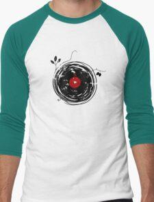 Cool Grunge Enchanting Vinyl Records Vintage Men's Baseball ¾ T-Shirt