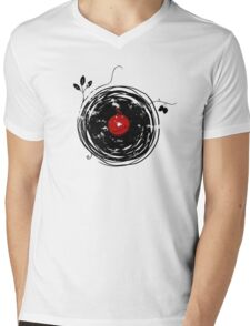 Cool Grunge Enchanting Vinyl Records Vintage Mens V-Neck T-Shirt