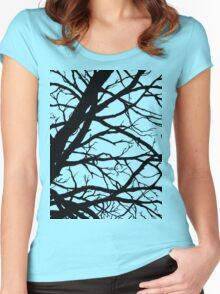 Dark Pink Lavender Tree Women's Fitted Scoop T-Shirt