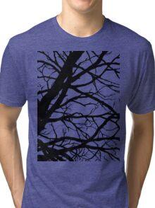 Dark Pink Lavender Tree Tri-blend T-Shirt