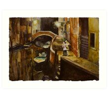 In Love In Venice Art Print