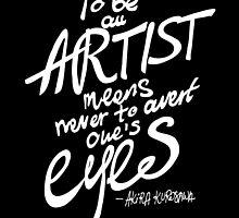 To be an artist... Akira Kurosawa by DubaiDoodles