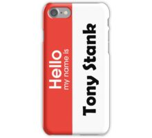 Tony Stank 2 iPhone Case/Skin