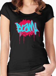 Blam Slogan Women's Fitted Scoop T-Shirt
