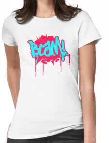 Blam Slogan Womens Fitted T-Shirt