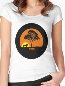 AFRICAN SUNSET Women's Fitted Scoop T-Shirt