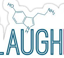 Live Laugh Love Molecules Sticker