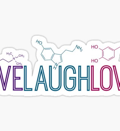 Live Laugh Love Molecules Sticker