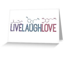 Live Laugh Love Molecules Greeting Card