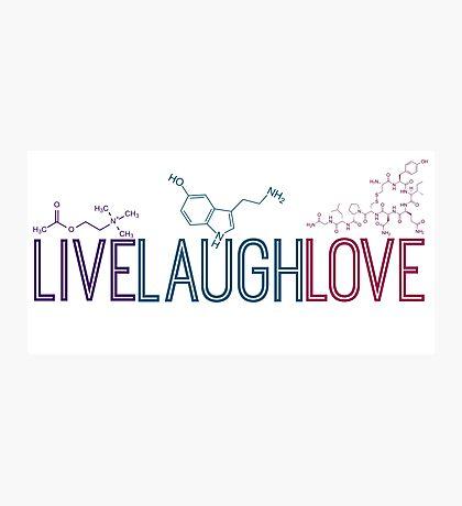 Live Laugh Love Molecules 2 Photographic Print