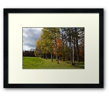 Autumn Forests and Fields Framed Print