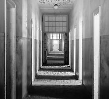 Ghostly Hospital Corridor by Jill Fisher