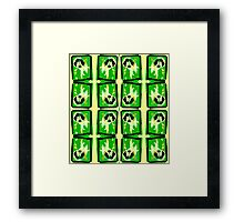 Dark Green Stain Butterfly Effect Framed Print