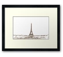 Paris Eiffel Tower Series by Billy Bernie Framed Print