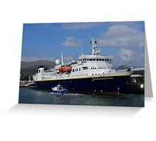 National Geographic Explorer in Dingle harbour Greeting Card