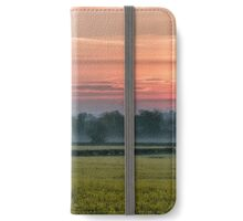 Sunrise over a Rapeseed Field iPhone Wallet/Case/Skin