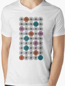 Scandinavian Abstract Floral Mens V-Neck T-Shirt