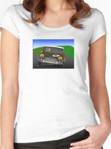 MINI race car Women's Fitted Scoop T-Shirt