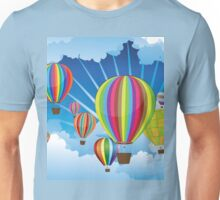 Air Balloons in the Sky 5 Unisex T-Shirt