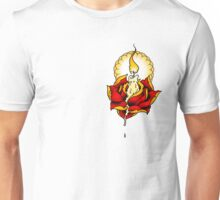 Neotraditional Candle and Rose Unisex T-Shirt